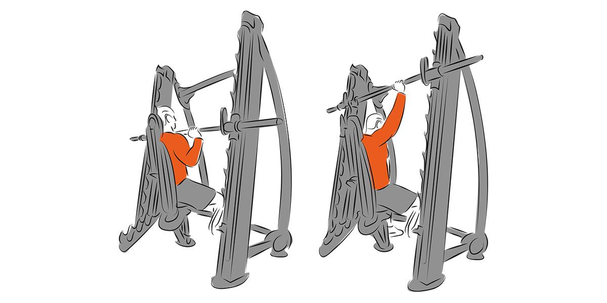 Wyciskanie sztangi nad głową siedząc